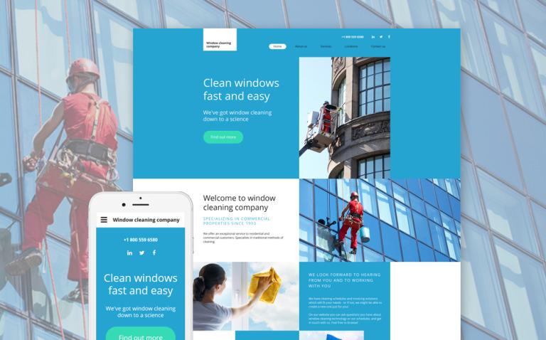 Window Cleaning Website Template New Screenshots BIG