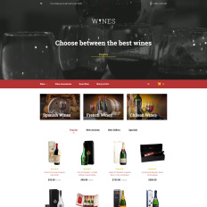 Wine Templates TemplateMonster - Microsoft word invoice templates best online wine store