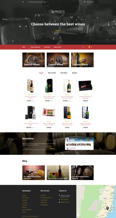 Wines PrestaShop Theme