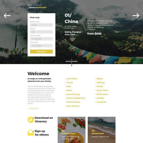World Around  - Landing Page Travel Agency Template