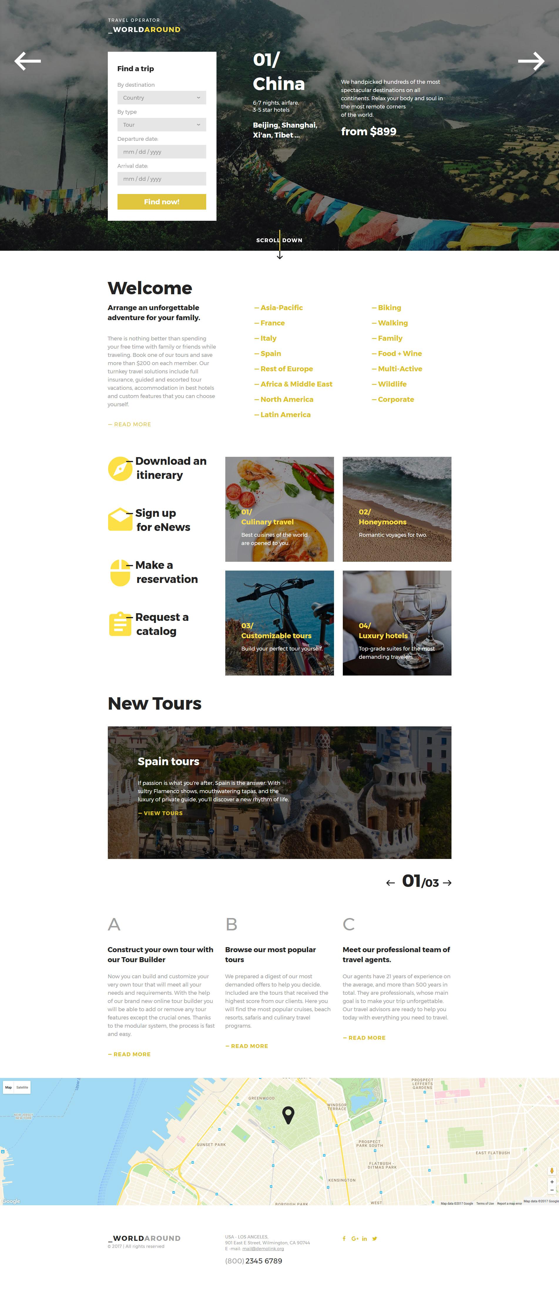 WorldAround - Travel Operator Templates de Landing Page №58170