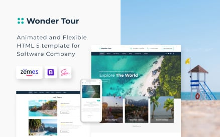 Wonder Tour - Travel Agency Multipage HTML Website Template