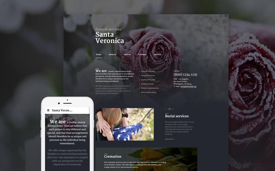 Responsive Website template over Begrafenisdienst  New Screenshots BIG