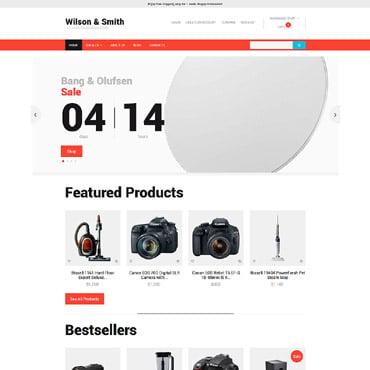 Купить Шаблон интернет-магазина электроники. Купить шаблон #58203 и создать сайт.