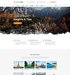 Travel Website  Template 58204