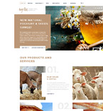 Agriculture Website  Template 58210