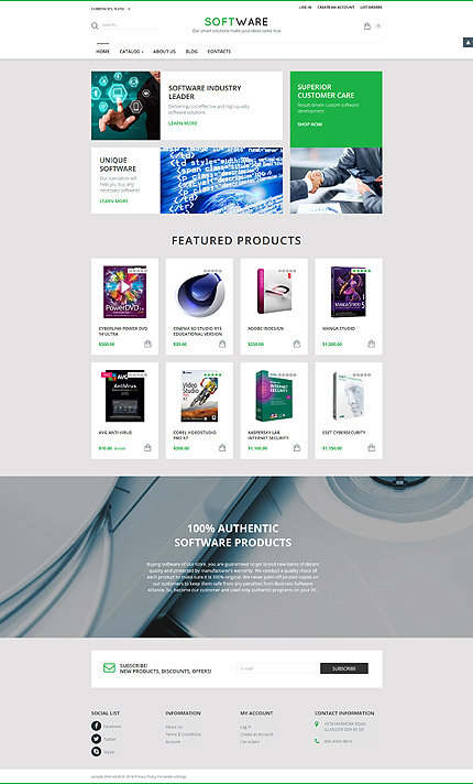 ADOBE Photoshop Template 58216 Home Page Screenshot
