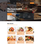 Cafe & Restaurant Website  Template 58219