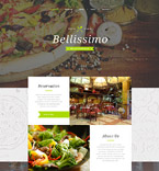 Cafe & Restaurant Website  Template 58225