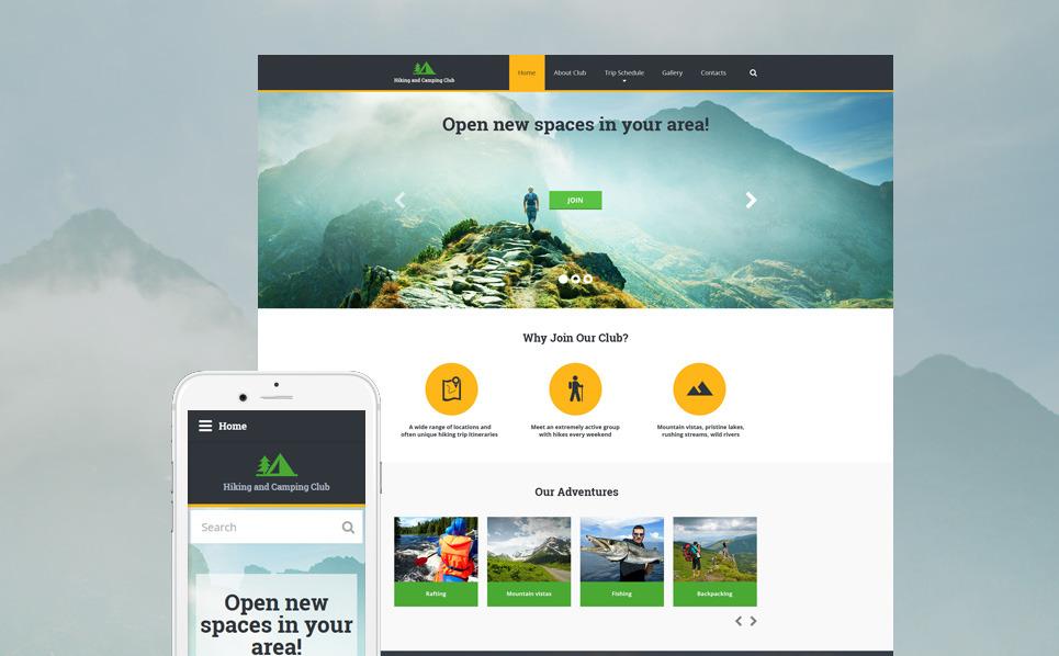 Responsive Website template over Trektochten New Screenshots BIG