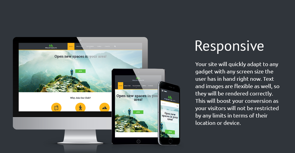 Hiking Club Responsive Website Template