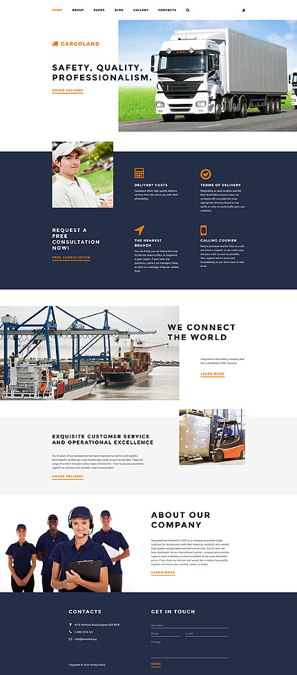 Joomla Theme/Template 58227 Main Page Screenshot