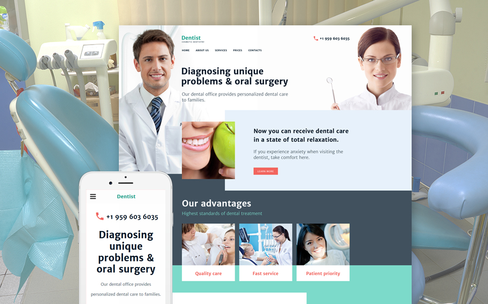 Cosmetic Dentistry template illustration image