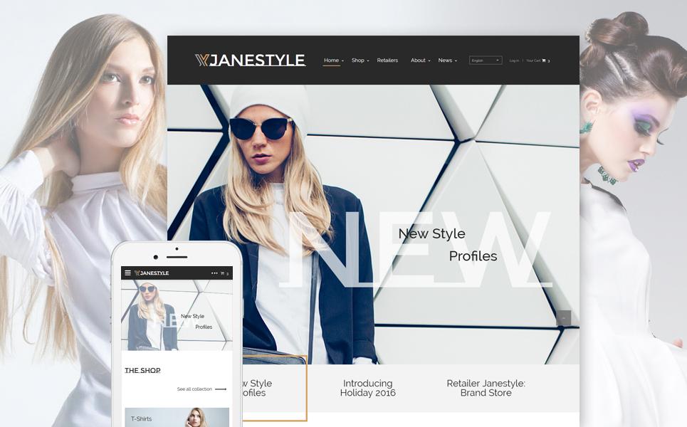 JaneStyle - Fashion template illustration image