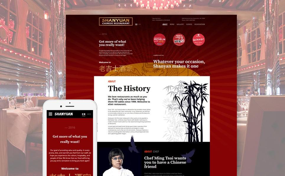 Responsive Website template over Chinees Restaurant  New Screenshots BIG