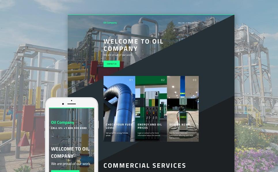 Responsive Landingspagina Template over Gas & Olie  New Screenshots BIG