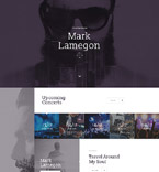 Music Landing Page  Template 58249