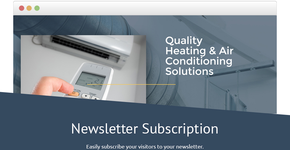 Air Conditioning Responsive Landing Page Template