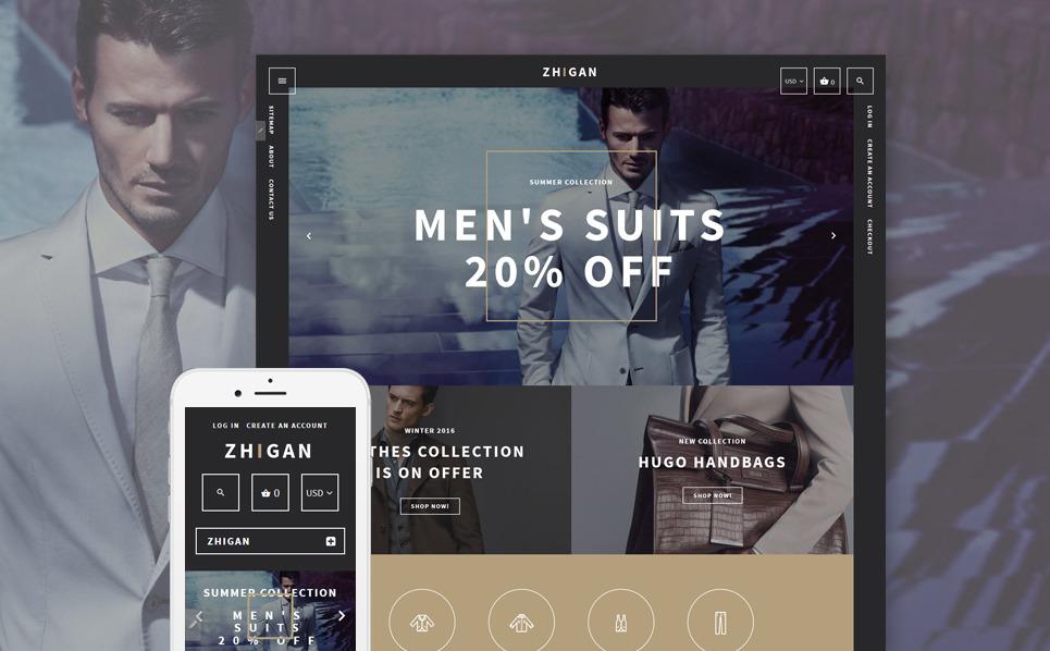 "Tema Shopify Responsive #58254 ""Zhigan"" New Screenshots BIG"