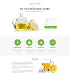 Food & Drink Landing Page  Template 58269