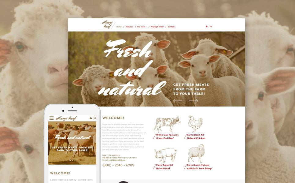 Reszponzív Farm Weboldal sablon New Screenshots BIG