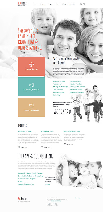 Joomla Theme/Template 58277 Main Page Screenshot
