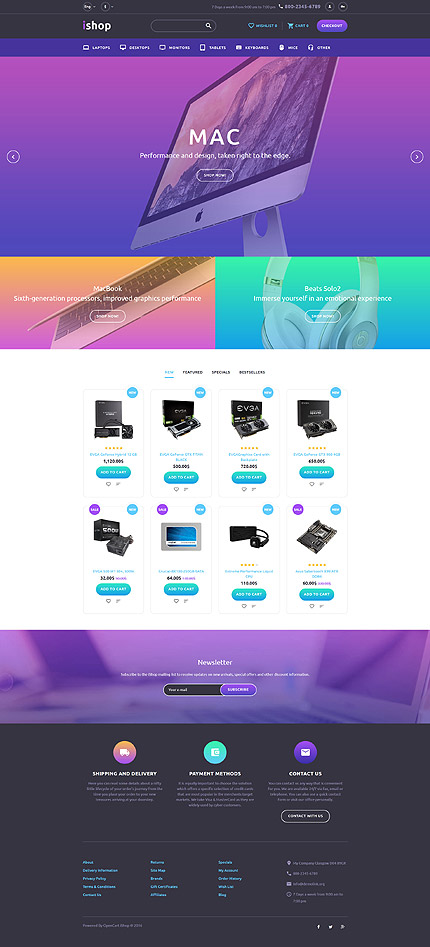 ADOBE Photoshop Template 58281 Home Page Screenshot