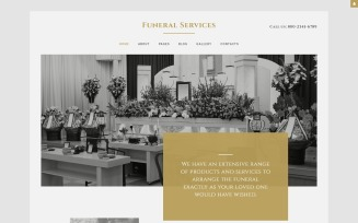Funeral Services Joomla Template