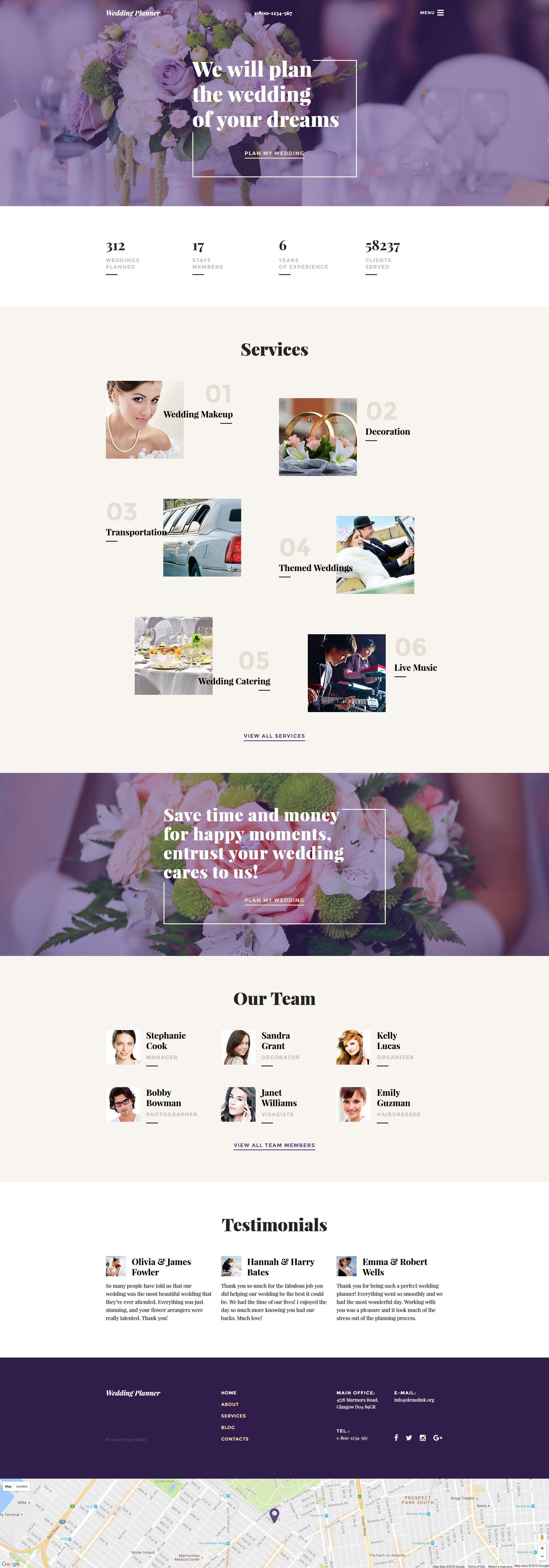 Адаптивный HTML шаблон №58268 на тему свадебный салон