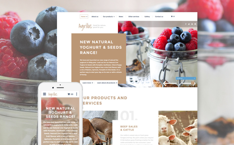 Agrilloc Website Template
