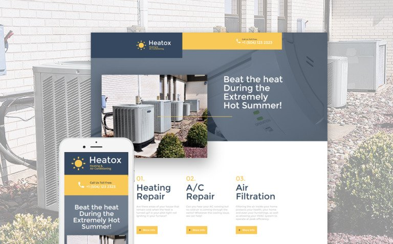 Air Conditioning Responsive Landing Page Template New Screenshots BIG
