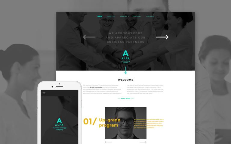 Alfa Website Template New Screenshots BIG