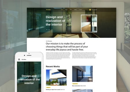 architecture site template