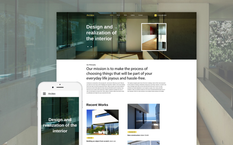 Arcitex Website Template New Screenshots BIG