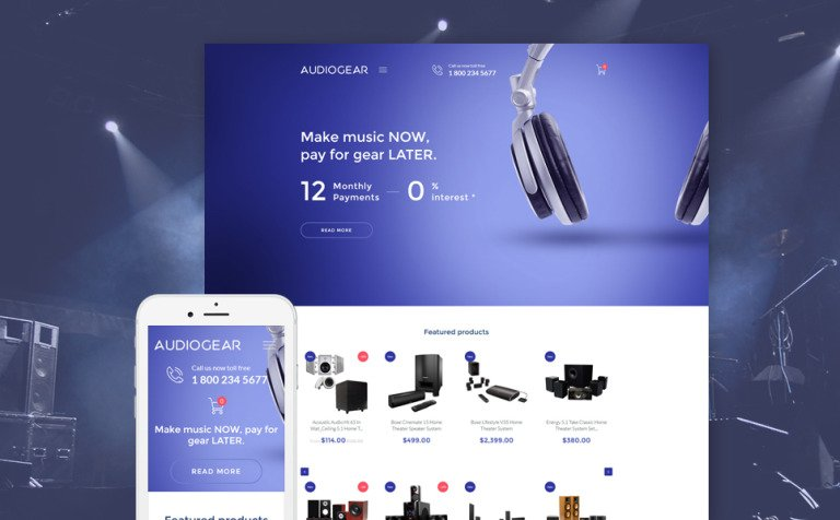 Audio Gear Shopify Theme