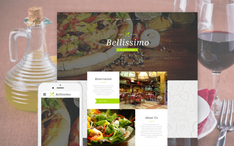 Bellissimo Website Template New Screenshots BIG