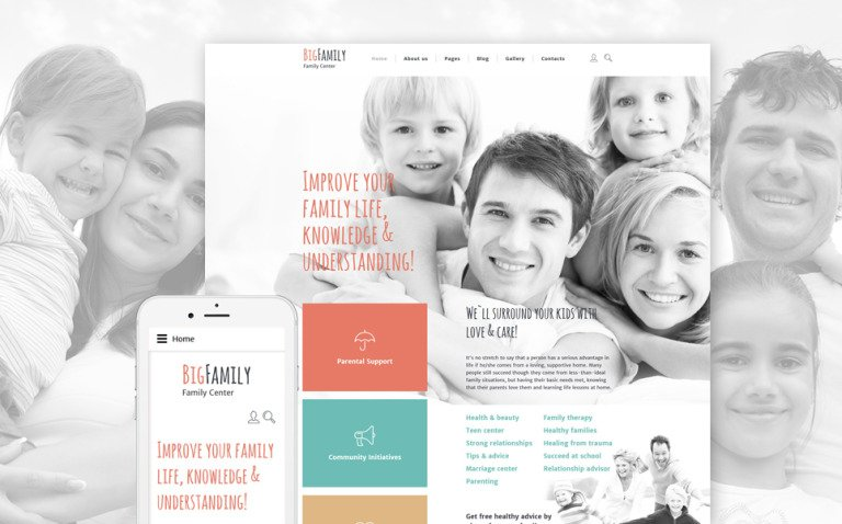 Big Family Joomla Template New Screenshots BIG