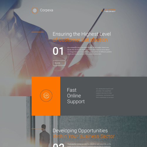 Corpexa - Responsive Landing Page Template