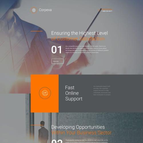 Corpexa - Responsive Landing Page Template
