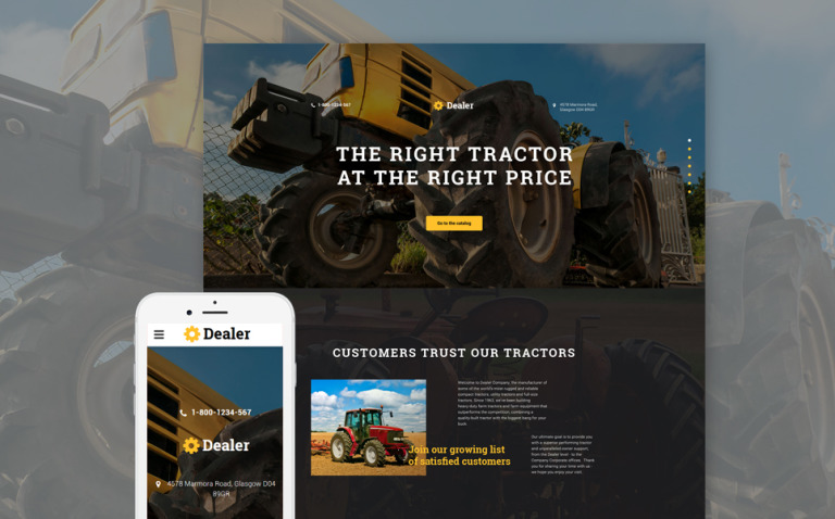 Car Dealer Responsive Landing Page Template New Screenshots BIG