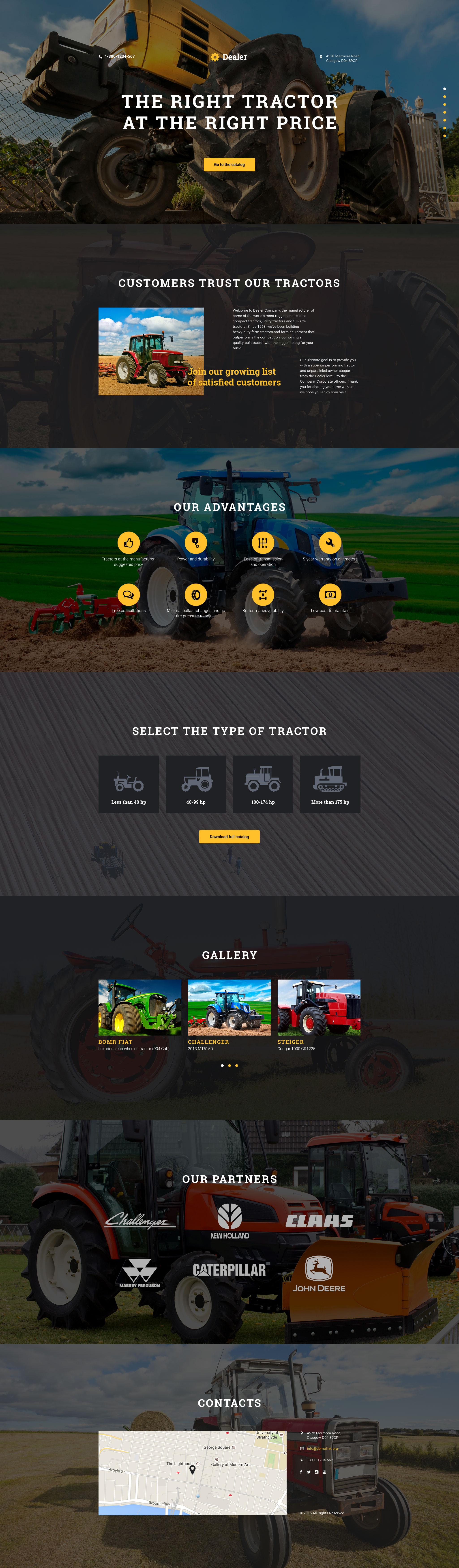 Car Dealer Responsive Landing Page Template #58220