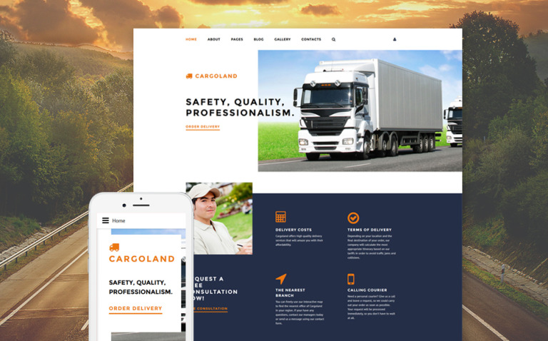 Cargoland Joomla Template New Screenshots BIG