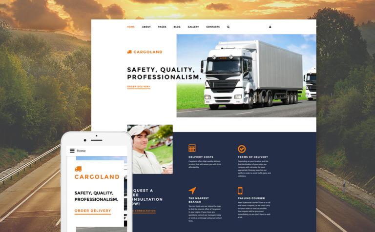 Cargoland Joomla Template