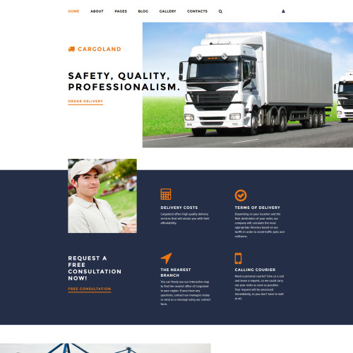 Cargoland - Transportation Template based on Bootstrap