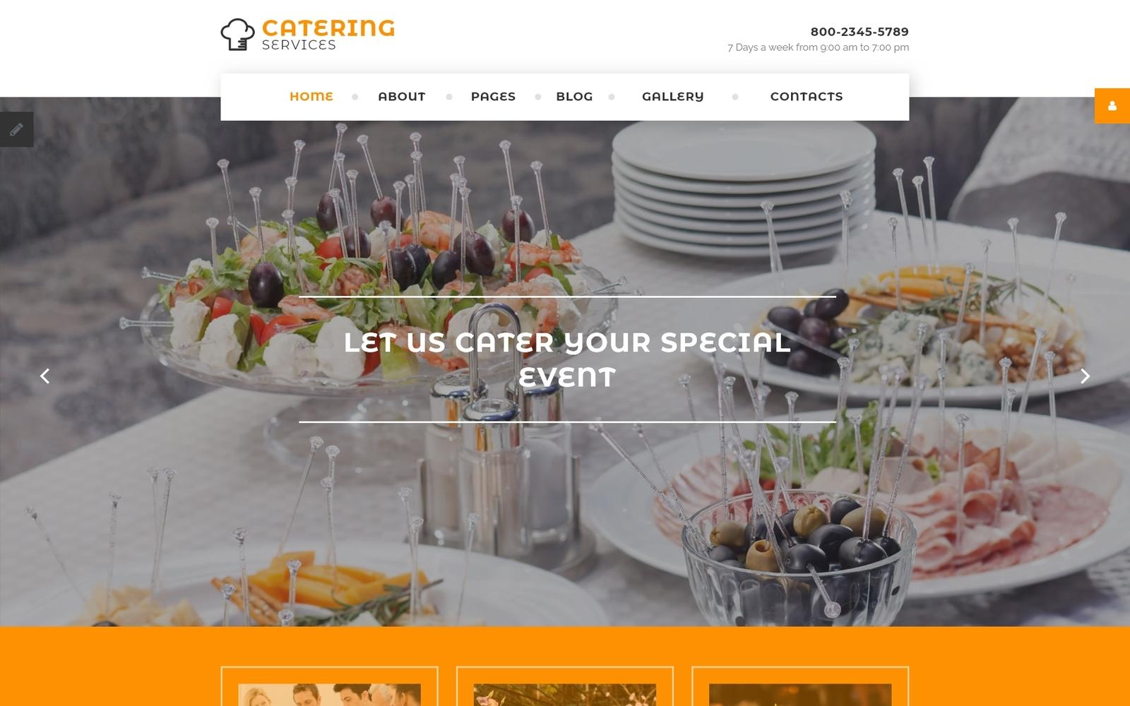 """Catering Services"" - адаптивний Joomla шаблон №58298"