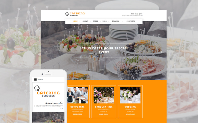 Catering Services Joomla Template New Screenshots BIG