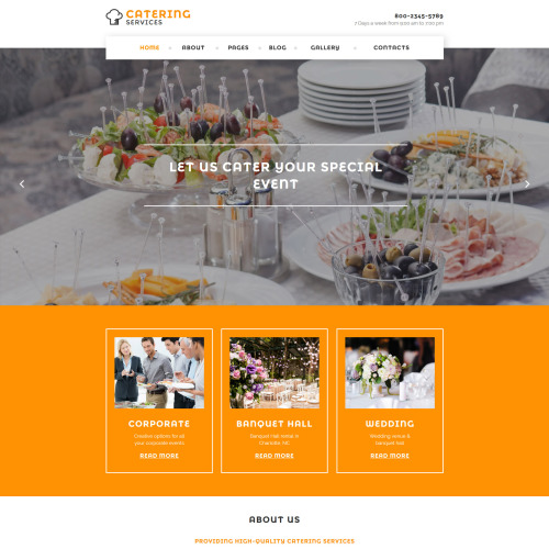 Catering Services - Joomla! Template based on Bootstrap