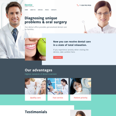 32 best dentistry website templates
