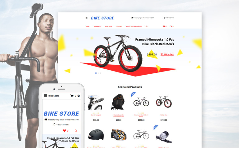 Cycling Responsive OpenCart Template New Screenshots BIG