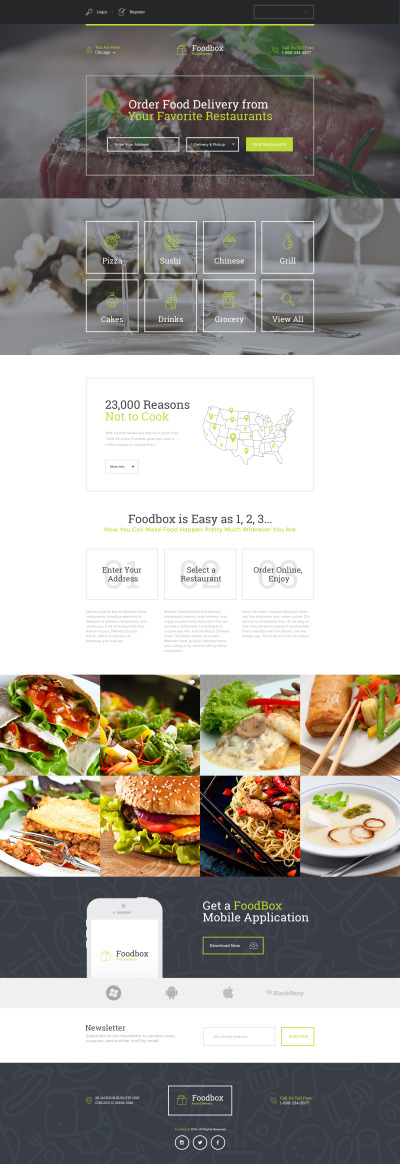 Delivery Services Responsive Landing Page Template #58223